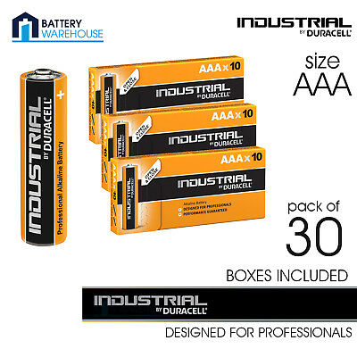 30 x Duracell Industrial Alkaline AAA 1.5v Battery - Pack of 30 | MN2400 LR03