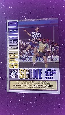 Wigan Athletic V Stockport County 1981-82.
