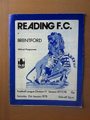 Reading V Brentford 1977-78