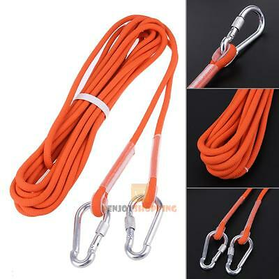 10m 9.5mm Nylon Climbing Cord Safety Abseiling Rope For Outdoor Mountaineering