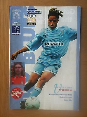 Coventry City V Wrexham 1994-95