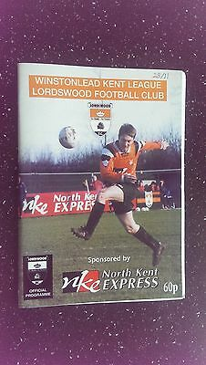 Lordswood V Canterbury 1998-99
