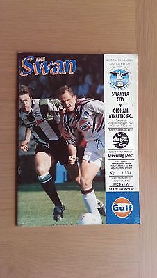 Swansea City V Oldham Athletic 1993-94