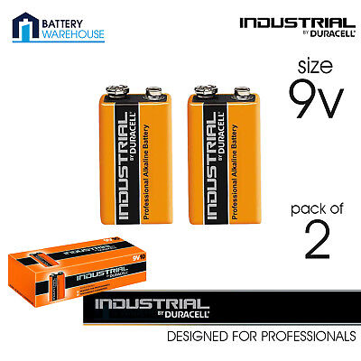 2 x Duracell Industrial 9v Battery - Pack of 2 | LR22 MN1604 Procell Alkaline