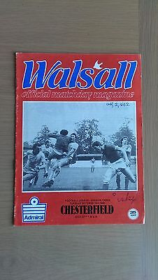 Walsall V Chesterfield 1982-83