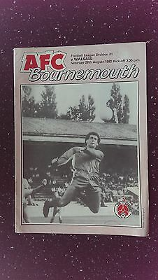 Bournemouth V Walsall. 1982-83