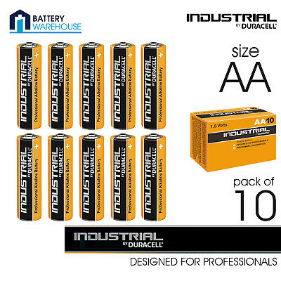 10 x Duracell Industrial Alkaline AA 1.5v Battery | 1.5V LR6 MN1500 - Procell