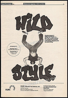 WILD STYLE__Original 1983 Trade AD promo_poster__GRANDMASTER FLASH__LEE QUINONES