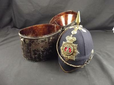 Victorian 1878 Pattern Cased Leinster Blue Cloth Helmet