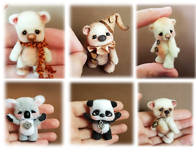 Commission Made to Order Miniature OOAK Jointed Bear  ~ By Michele Roy