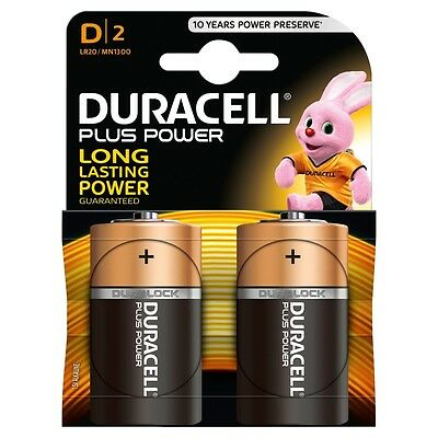 Duracell Plus Power D 1.5v Battery - Pack of 2 | MN1300 LR20