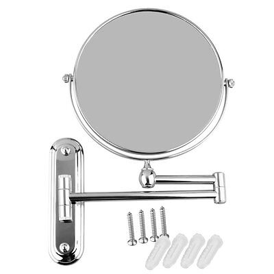 GURUN 8 Inch X10 Magnifying Makeup Mirror Wall Mounted Double Sided Chrome 7X 5X