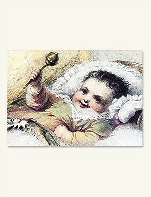 Victorian Trading Co The Newborn Babe Baby Announcement Blank Notecards 8pk