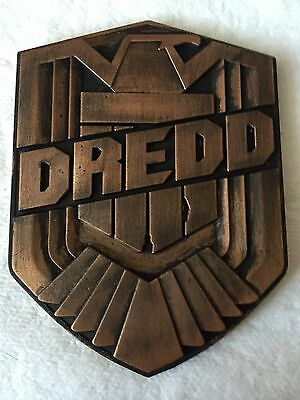 Judge Dredd Badge Resin With Bronze Effect Movie Accurate 1/1