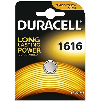 Duracell Lithium Coin CR1616 3v Battery - Pack of 1 | DL1616 1616 BR1616 ECR1616