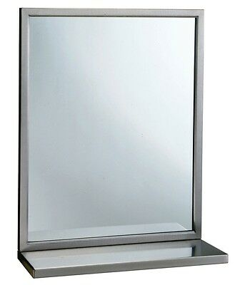 Bobrick - B-166 2436 - 24 in x 36 in Channel Frame Mirror with Shelf