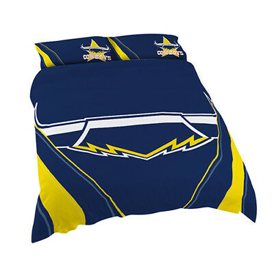 North Queensland Cowboys 2017 NRL Quilt Cover Set Single Double Queen King