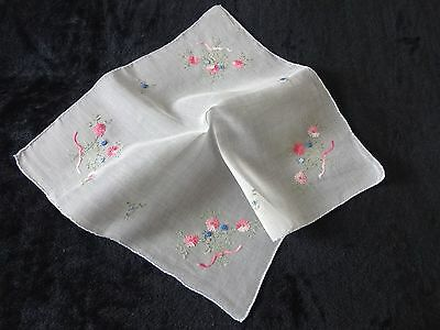 Vintage White Organza Hand Embroidered Table Centre Mat