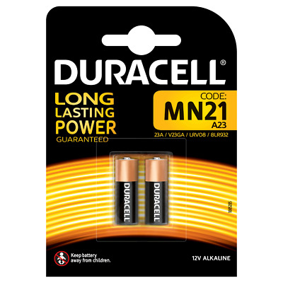 Duracell Alkaline MN21 12v Battery - Pack of 2 | A23 LRV08 12V