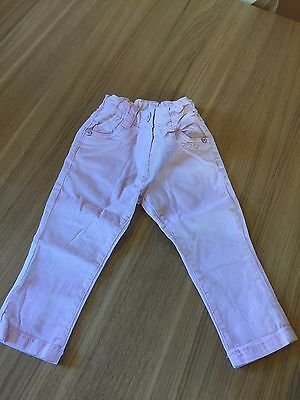 Baby Girls Stretch Jeans 6-9 Months. Pale Pink From Next