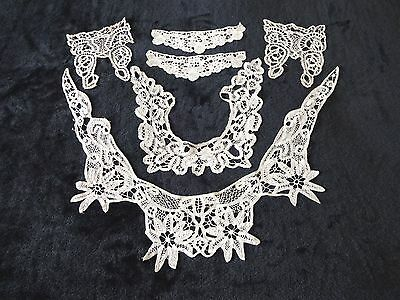Small Collection Of Antique Honiton Lace ~ Collars, Cuffs, Etc.