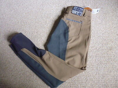 Anky Elegance Ladies Contrast Full Seat Breeches coffee size EU 42 UK 14