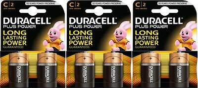 Duracell Plus Power C 1.5v Battery - Pack of 6 | LR14 MN1400