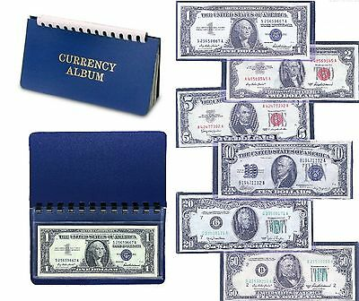 Currency Collection 1934-1963 $1-$50 Blue - Red Seals ~ S.c. ~ Legal Tender