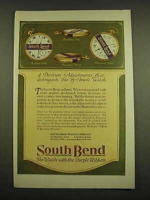 1918 South Bend Watch Company Ad - 4 position adjustments that distinguish