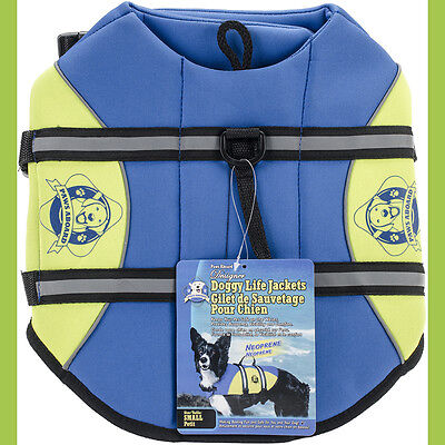 Paws Aboard Neoprene Doggy Life Jacket Small-Blue & Yellow