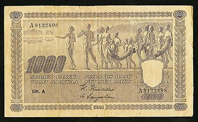 """VF as Pictures"" 1945 Finland 1000 Markkaa P-82a ""A8122898"", Scan-L"