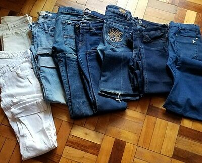 8 pair lot 7 For All Mankind Paige DL J Brand Mih Denim Jeans sz 25 26 27 28