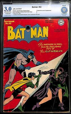 Batman #42 Cbcs 3.0 1St Catwoman Cover In Batman !!  Not Cgc