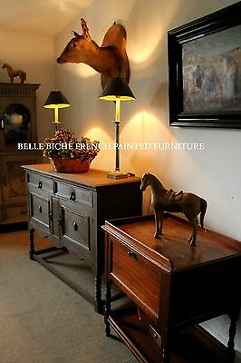 =Hugely Admirable French Painted 19th Century Oak Sideboard Server