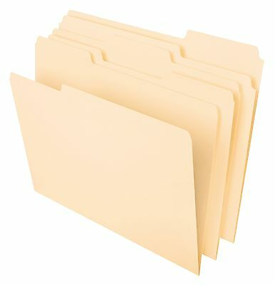 Pendaflex Essentials File Folders Letter Size 1/3 Cut Manila 100 per Box
