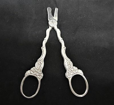 Beautiful Antique Silverplate Swedish Grape Scissors