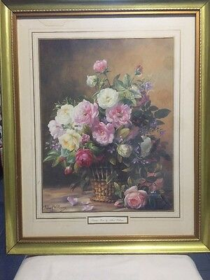 Summer Roses By Albert Williams Print.. Framed And Signed.