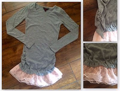 Girls x store grey tunic party casual top age 7-8 8-9 9-10 10-11 12-13 13 years