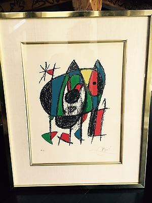 Signed Miro Lithograph Painting (HC) Limited Edition
