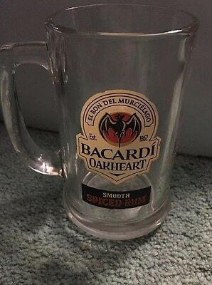 Brand new Bacardi oakheart spiced rum glass mug