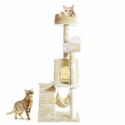 """All Color 51"""" Cat Tree Scratcher Play House Condo Furniture Bed Post Pet House N"""