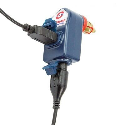 Optimate Twin Outlet DIN to USB Charger for Triumph & BMW Motorcycles (105)