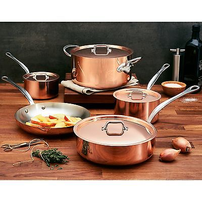 Mauviel MHeritage Copper with Stainless Steel Interior 9-piece Cookware Set