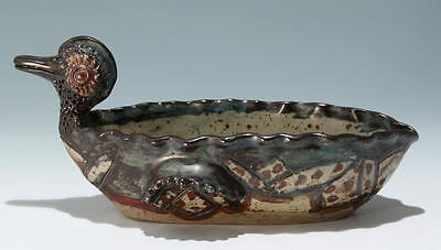 The Rorke's Drift Pottery Duck Bowl signed Elizabeth Mbatha       #17513