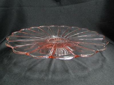 """Pink Scalloped Cake Stand 10 1/4"""""""