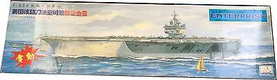 MiniHobbyModels U.S Aircraft Carrier CVN65 Enterprise Model Kit Scale1:350,Nuevo