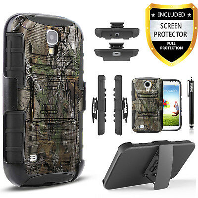 Galaxy S4 Case, Dual Layers Belt Clip With Screen Protector+Stylus Pen
