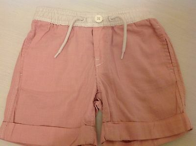 Gap Girl's White/Pink Checked Shorts 18-24 Months