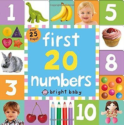 First 20 Numbers Book by Priddy  Roger (Board book) 9781783410934