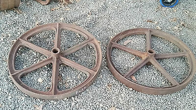 2 x Steel Wheels 72cm - Plough Wheels - Transporter Wheels - Garden Display